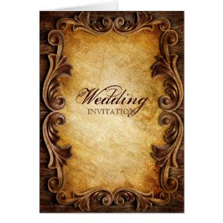 Sophisticated Elegant  western vintage wedding カード