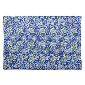 Sortaの青いさらさ(編まれた綿のランチョンマット) ランチョンマット