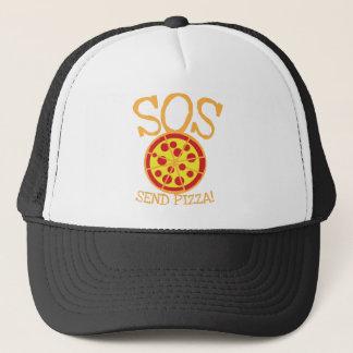 SOS! ピザを送って下さい! おいしいpepperoniピザ切れを使って キャップ