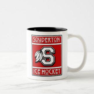 Soudertonのアイスホッケーのマグ ツートーンマグカップ
