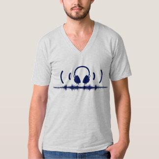 Soundwavesのヘッドホーンおよび海軍v1の音声 Tシャツ