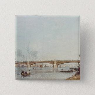 Southwark橋はBanksideから、西に、向かいます 5.1cm 正方形バッジ