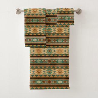 Southwest Design Green Brown Tan バスタオルセット