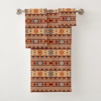 Southwest Pattern Design Tan バスタオルセット