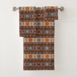 Southwestern Design Adobe Tan Gray Brown バスタオルセット