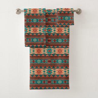Southwestern Design Turquoise Terracotta バスタオルセット