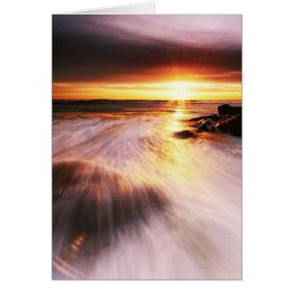 Southwoldのビーチの日の出5. カード