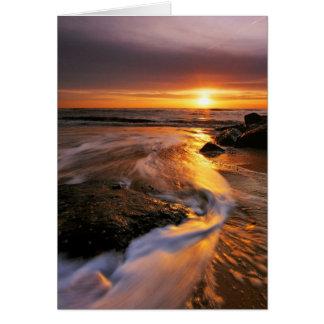 Southwoldのビーチの日の出6. カード