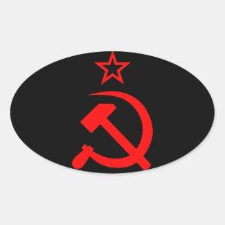 Soviet 2 卵形シール・ステッカー