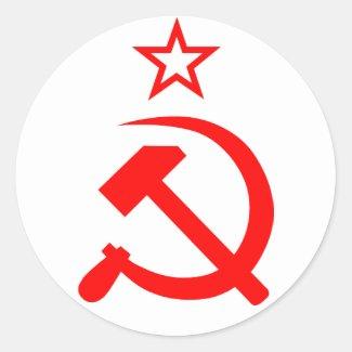 Soviet 2 丸形シールステッカー