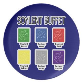 Soylentの緑のビュッフェそれは人々のプレートです プレート