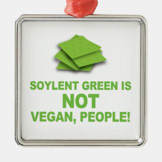 Soylentの緑はビーガン、人々ではないです! メタルオーナメント
