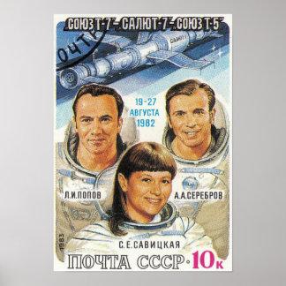 Soyuz T-7 ポスター
