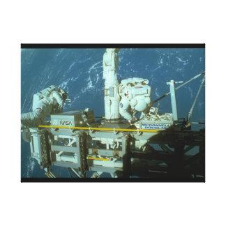 space_Spaceのシャトル キャンバスプリント