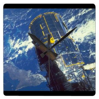 space_Spaceの衛星 スクエア壁時計