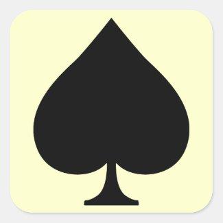 Spade 正方形シールステッカー