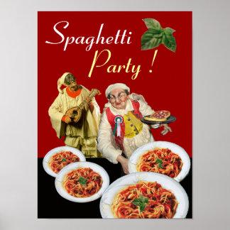 SPAGHETTI PARTY,Italian Kitchen,Chef,Pulcinella ポスター