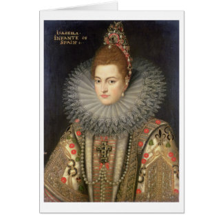 SpaiのイザベラクララのEugeniaの(1566-1633年の) Infanta カード