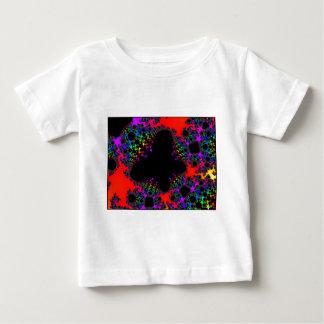 Spanglerのイメージの黒ライト蝶1 ベビーTシャツ
