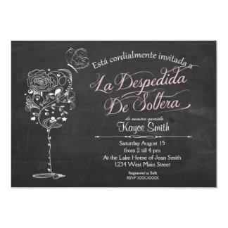 SpanishVintageのワイングラスのブライダルシャワーの招待状 12.7 X 17.8 インビテーションカード
