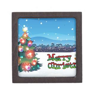 sparklが付いているクリスマスツリーが付いているクリスマスカード ギフトボックス