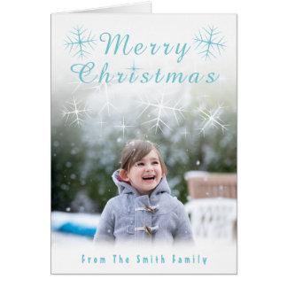 Sparkling Snowflake Christmas Card カード
