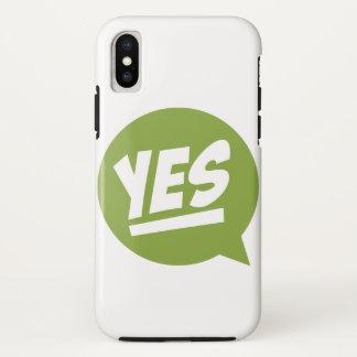 """Speachbubbleの""""YES""""のiPhoneXの場合 iPhone X ケース"""