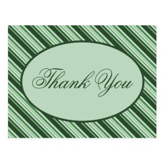 Spearmintのキャンディ・ケーンの休日は郵便はがき感謝していしています ポストカード