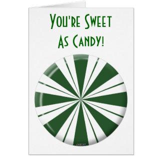 Spearmintのストライプなキャンデー カード