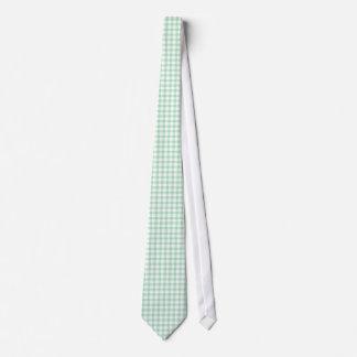 Spearmintの男性へ緑のギンガムパターンネクタイ タイ