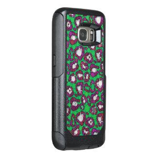 Spearmintの紫色のチータの抽象芸術 オッターボックスSamsung Galaxy S7ケース