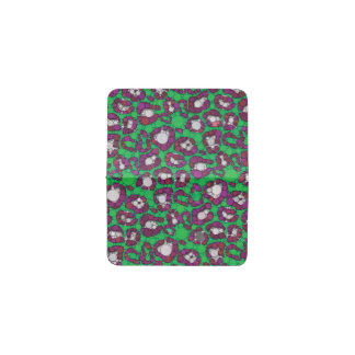 Spearmintの紫色のチータの抽象芸術 名刺入れ