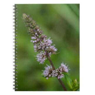 Spearmintの紫色の野生の花の花柄のノート ノートブック