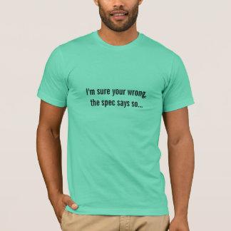 specは…そう言います tシャツ