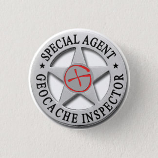 *Special Agent* w/logo Geocacheの検査官 缶バッジ