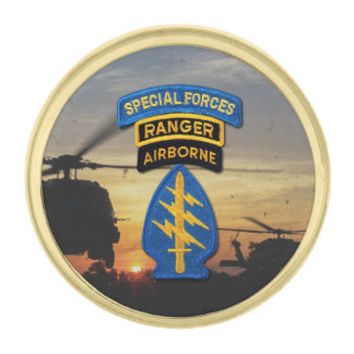 Special forces Green Berets sfg sf sof patch ゴールド ラペルピン