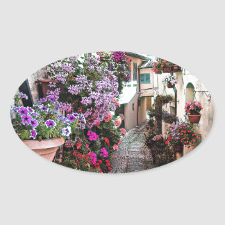 SpelloのWindows、バルコニーおよび花の細道 楕円形シール