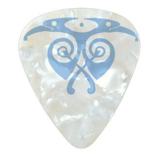 Spellstoneのワタリガラス パールセルロイド ギターピック