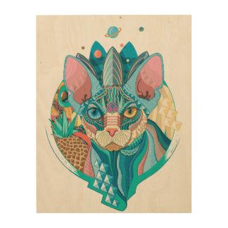 Sphynx宇宙猫 ウッドウォールアート