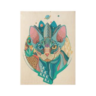 Sphynx宇宙猫 ウッドポスター