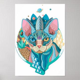 Sphynx宇宙猫 ポスター