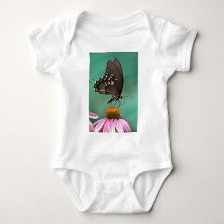 Spicebushのアゲハチョウの蝶- Papilioのtroilus ベビーボディスーツ