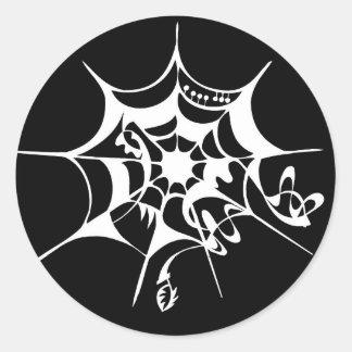 Spiderwebのクモの巣 ラウンドシール