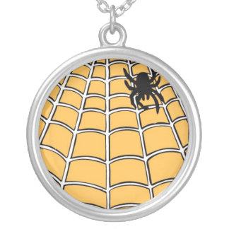 Spiderwebのネックレス シルバープレートネックレス