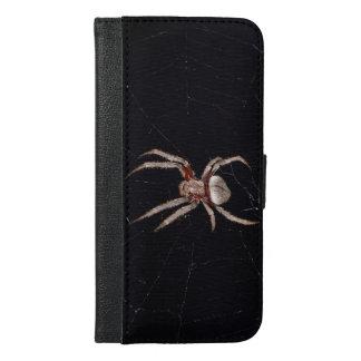 spiderwebの写真のくも iPhone 6/6s plus ウォレットケース