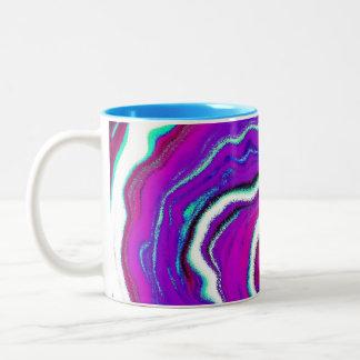 Spiderwebの抽象的なコーヒー・マグ ツートーンマグカップ