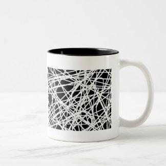 Spiderwebの黒く及び白いマグ ツートーンマグカップ
