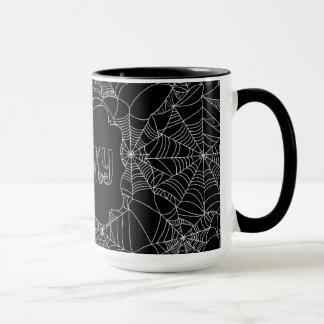 """""""Spiderweb気味悪い""""ハロウィンパターン マグカップ"""