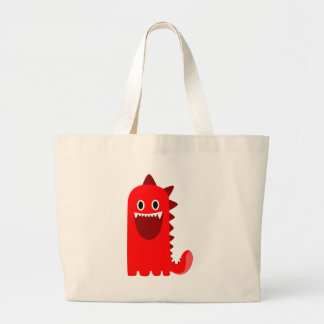 Spikey赤いモンスター ラージトートバッグ