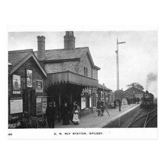 Spilsbyの駅のヴィンテージの郵便はがき ポストカード